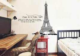 Eiffel Tower Bedroom Decor Eiffel Tower Wall Quote Decal Sticker Home Decoration Wallpaper