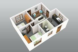 3 Bedroom Small House Plans 3d New 3d Small House Design Small House Plans  Simple House Design Plans