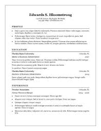 Microsoft Word Resume Template Free
