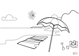 Small Picture Beach Scene coloring page Free Printable Coloring Pages