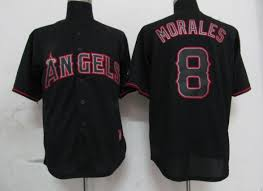 Mlb Jerseys Sizes Mlb Los Angeles Angels 8 Morales Black