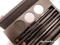 mac cinematics collection black and brown smokey eyes kit swatches mac eye shadow