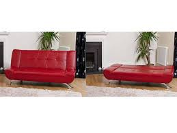 3 seater leather sofa bed in black brown red ivory