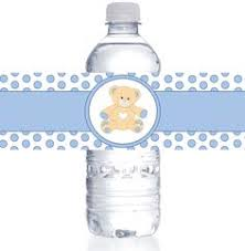 Personalized Water Bottle Labels  Rustic Baby Shower By Kate AspenBaby Boy Shower Water Bottle Labels