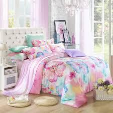 blue pink fl silk flowers bedding set queen king size quilt duvet cover designer polka dot