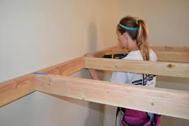 i how to build an indoor tree house play loft and drill into the studs i