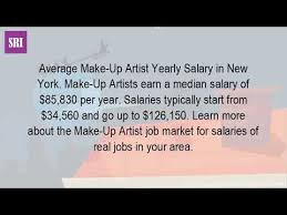how much do makeup artists make in new york