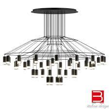 lampada a sospensione vibia wireflowchandelier 0376