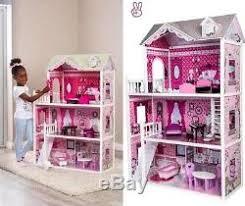Kids dollhouse furniture Waldorf Pink Decorated Barbie Dollhouse Furniture Doll House Kids Toys Dolls Girls Gift Conquistarunamujer Pink Decorated Barbie Dollhouse Furniture Doll House Kids Toys Dolls