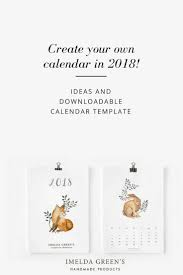 Create Your Own Calendar In 2018! - Imelda Green's