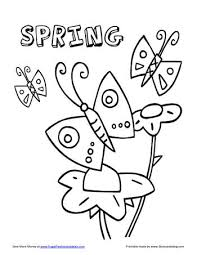 Spring Coloring Pages Frugal Living Mom