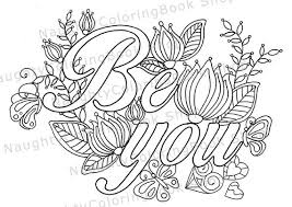 Small Picture Be You Coloring Page Law Of Attraction Positive Vibes