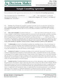 Consulting Agreement In Pdf Impressive Sample Consulting Agreement Ag Decision Maker Download Printable