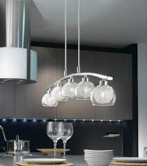 oviedo modern curved light kitchen pendant bar chrome pertaining to lights idea