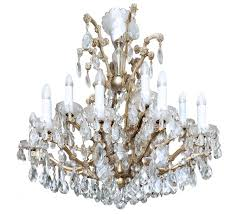 an impressivee bohemian ry crystal and brass maria theresa chandelier czech republic
