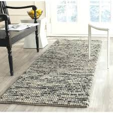 hand knotted tangier ivory black wool jute rug chunky and gray