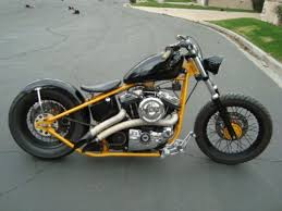 1200cc harley bobber on a paughco rigid frame new everything