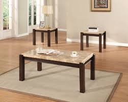 Marble Living Room Table Set Acme Charissa Aegean Light Brown Marble 3pcs Coffee And End Table Set