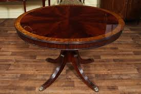 Round Table S 48 Round Dining Table With Leaf Round Mahogany Dining Table