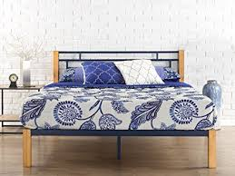 zinus metal and wood platform bed. Delighful Bed Zinus Epic Metal U0026 Wood Platform Bed With Slat Support Queen Inside And