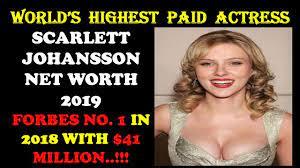 Scarlett Johansson Net Worth 2019 ...