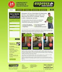 Web Design From Home Website Design For Express Home Services - Web design from home