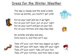 Adventures In Room 111 Spelling Poem 19 Dress For Winter