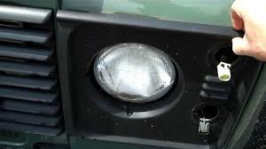 crystal halogen headlight upgrade in land rover defender crystal halogen headlight upgrade in land rover defender