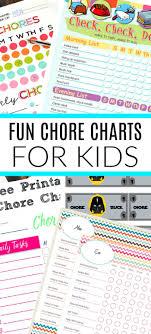 Chore Chart Ideas 10 Free Printable Chore Charts For Kids