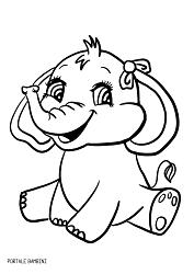 Disegni Di Elefanti Da Stampare E Colorare Gratis Portale Bambini