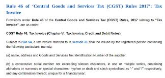 Gst - India - Rule 46 Of 'central Goods And Services Tax (Cgst ...