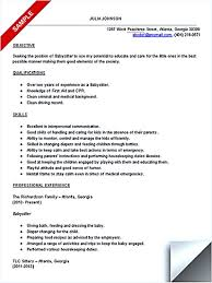 Resumes For Babysitters Babysitter Resume Is Going To Help Anyone Who Is Interested In