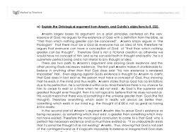 ontological argument essay the ontological argument essays