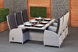 grey rattan dining table. round wicker garden dining set - bologna grey rattan table b