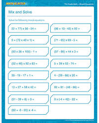 Mix and Solve – Free 7th Grade Math Printable PDF Worksheet – Math ...Mix and Solve - Free Math Worksheet for 7th Grade