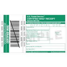 certified mail receipt usps