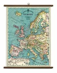 Details About Cavallini Vintage School Chart Ready To Hang 70 X 100cms Map Of Europe