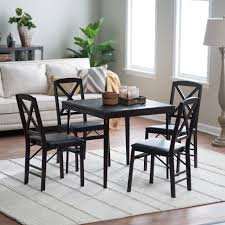 cosco card table and chair sets. cosco 5-piece bridgeport 32-inch wood folding card table set | hayneedle and chair sets o