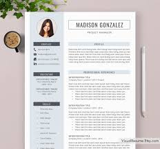 2019 Resume Template Modern And Simple Resume Office Word Resume Professional Resume Instant Download A4 Letter Size Madison Resume