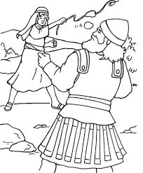 Small Picture David and Goliath coloring page Free Printable Coloring Pages