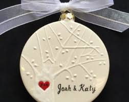 Engagement Christmas Ornament, Christmas, Engagement, Wedding, Anniversary  gift