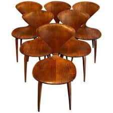 cherner furniture. Six Bentwood Walnut Dining Chairs By Norman Cherner For Plycraft, 1950s Furniture