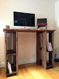 rustic standing desk stand up 100 reclaimed wood any size wooden plans wood standing desk