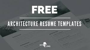 Free Resume Templates For Architects Cv Template – Traguspiercing.info