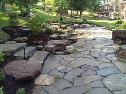 outdoor flagstone patio and stone steps in frederick ellicott city md and beyond
