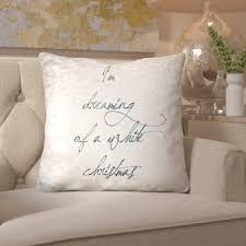 White couch pillows Grey White Christmas Throw Pillow Wayfair Off White Throw Pillows Wayfair