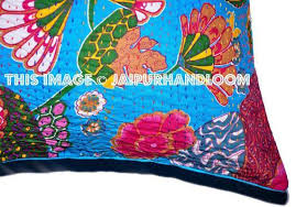 24x24 Indian Kantha Pillow Cover Kantha throw Pillow cushion Cover I
