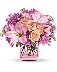 pink floral arrangements. Perfect Arrangements Quick View Teleflorau0027s Possibly Pink Flower Arrangement With Floral Arrangements