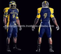 Sublimation cheap Football Buy Yellow Blue Royal Uniform Wear Youth With V-neck Adult American Uniforms Custom Top amp; -