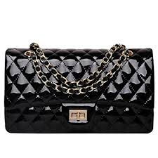 Ainifeel Women's Patent Leather Quilted Chain Purse Shoulder ... & Ainifeel Women's Patent Leather Quilted Handbag Purse Cross Body Bag  Shoulder Handbag Adamdwight.com